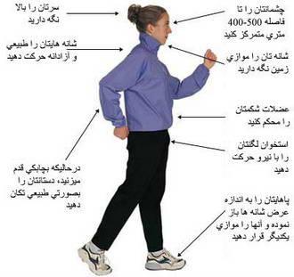 پیاده روی کمتر نتیجه بیشتر